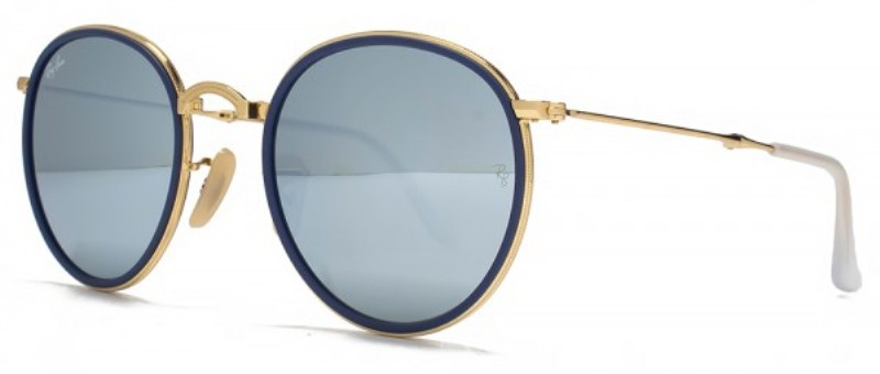 "Ray Ban ""Gold & Blue"""