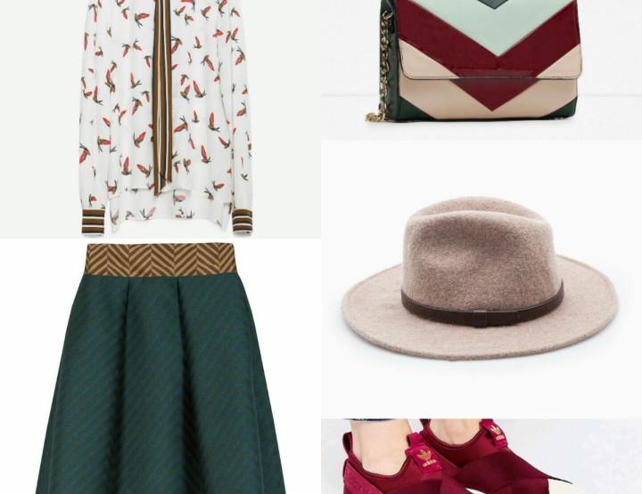 Taft, satenske patike i vuneni šešir