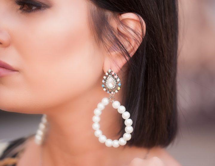 DETALJ MJESECA: Minđuše Diamonds & Pearls
