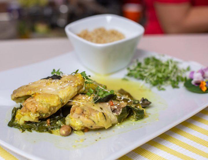 HEALTHY RECIPE: Pileća krilca sa kikirikijem i zelenim povrćem